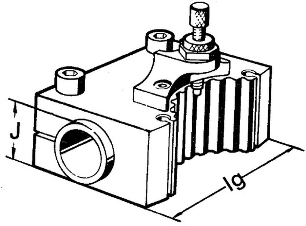 Держатель  расточного резца для хвостовика