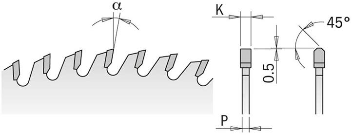 Диск пильный 400x30x4,4/3,2 16° TCG Z=60