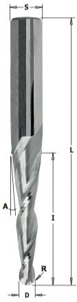 Фрезаспиральнаяконуснаядля3DфрезерованияL=76,2R=0,8Z=3S=6,35RH