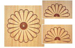 Комплект 1 шаблонов для фрезерования (испанский большой)