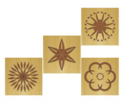 Комплект 2 шаблонов для фрезерования (розетка D)