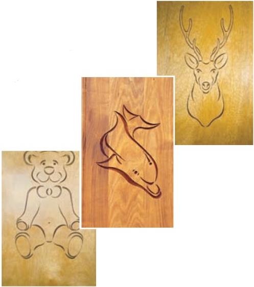 Комплект 3 шаблонов для фрезерования (Плюшевый медведь)