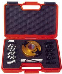 Комплект фрезы насадной F=35 D=100 (алюм.) 7 ножей SP +7 огранич. (кейс)