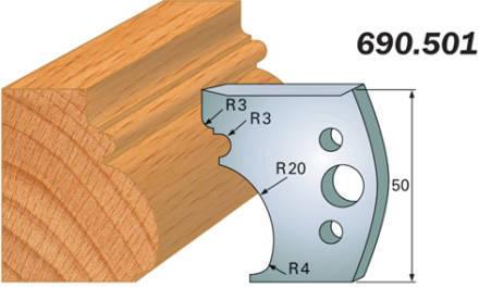 Комплект из 2-х ножей 50x4 SP CMT 690.501