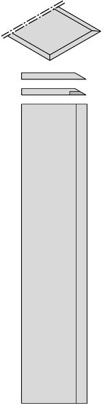 Комплект из 2-х ножей 1050x30x3 HW