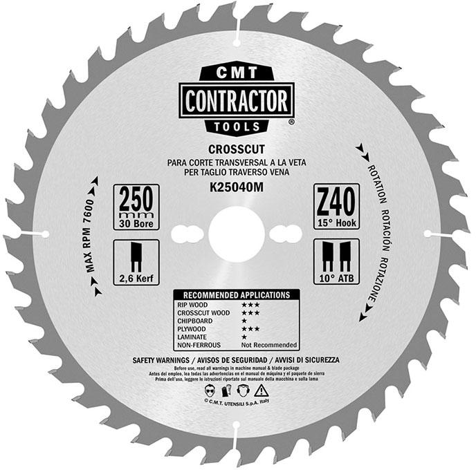 Комплект из 3-х дисков  160X20X2,2/1,4 15° ATB 10° Z24+40+40 ATB