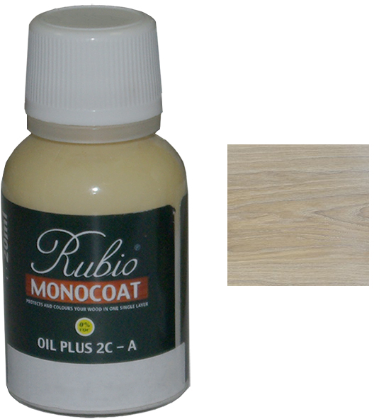Масло Cotton White Rubio Monocoat Oil plus 2C comp A 20 мл