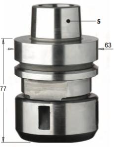 Патрон высокоточный для цанги DIN6388 S=HSK-F63 RH