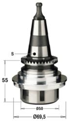 Патрон высокоточный для цанги ER32 S=ISO30/SCM RH
