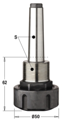 Патрон высокоточный для цанги ER32 S=MK2/M30x1,5 LH
