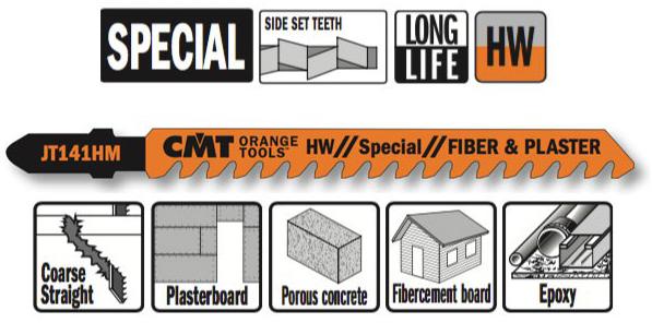 Пилки лобзиковые (HM) 3 штуки для строительных работ 100x5-20x6TPI