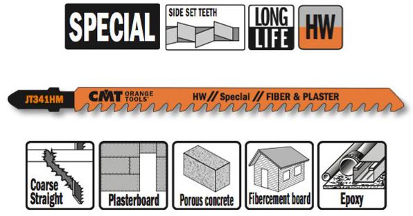 Пилки лобзиковые (HM)   3 штуки для строительных работ 132x5-50x6TPI