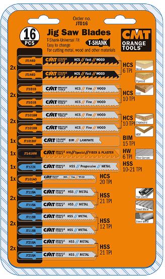 Пилки лобзиковые (комплект из 16 штук)