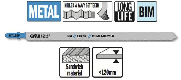 Пилки лобзиковые (металл/сэндвич панели)комплект из 3шт.