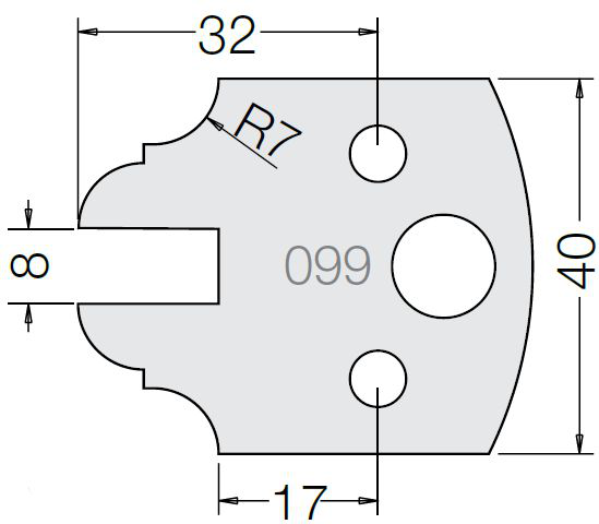 Пластина 33 099 40
