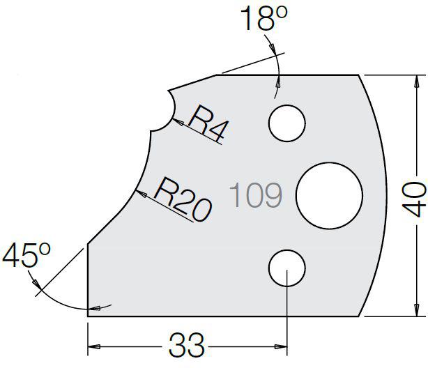 Пластина 33 109 40
