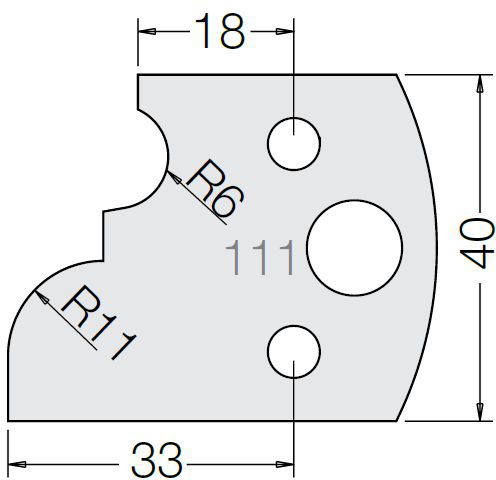 Пластина 33 111 40