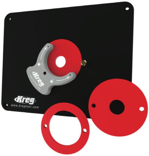 Пластина для крепления  во фрезерный стол с 3-мя кольцами для Bosch & Porter Cable