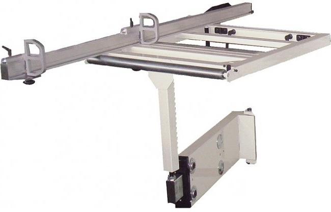 Разгрузочный стол с телескопической ногой 850х650мм