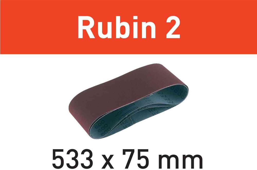 Шлифовальная лента Rubin 2 L533X 75-P40 RU2/10