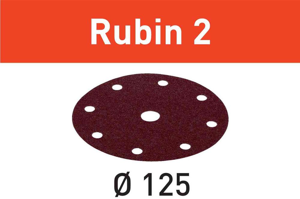 Шлифовальные круги Rubin 2 STF D125/8 P100 RU2/10