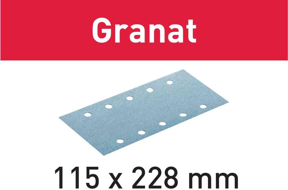 Шлифовальные листы Granat STF 115X228 P80 GR/50