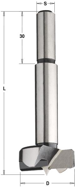 Сверло чашечное 28 мм SP 28x90 Z=2+2 S=10x30 RH
