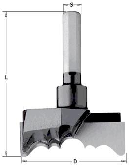 Сверло HW для изготовления розеток 54x73,5 Z=2 S=9,52 RH
