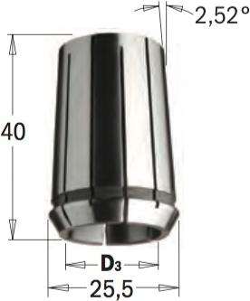 Цанга высокоточная DIN-6388  MM25,5X40  D=16