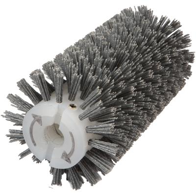 Брашировальная щетка валик Д130х250 мм, ворс полимер абразив P80