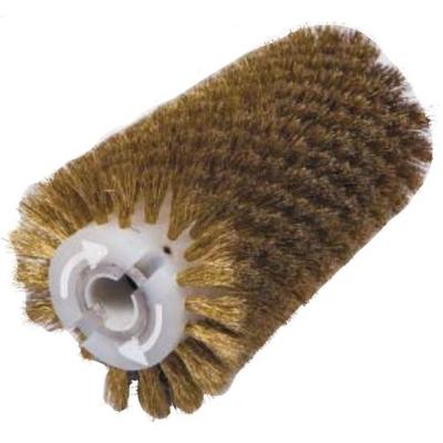 Брашировальная щетка валик Д130х250мм, ворс корд сталь латун. 0,3 мм