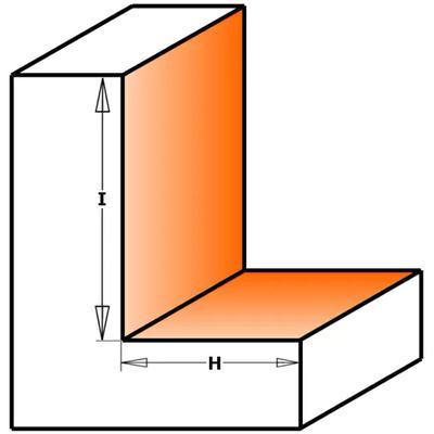 Фреза четвертная S12 D=34,9 I=19 H=12,7