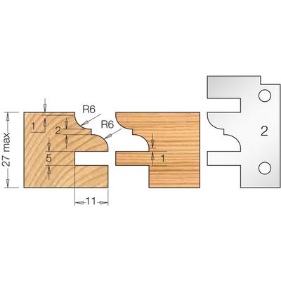 Фреза насадная мебельный ФАСАД профиль 2