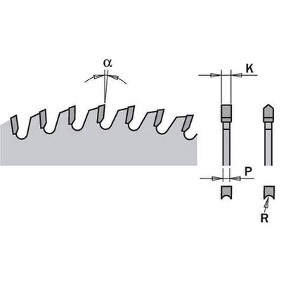 Диск пильный 220x30x3,2/2,2 -6° HDF Z=42