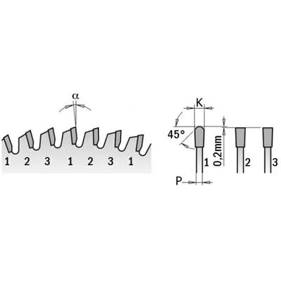 Диск пильный 250x30x3,2/2,2 -3º FFT Z=81