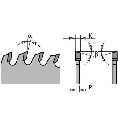 Диск пильный 250x30x3,2/2,2 5° 15° ATB Z=80