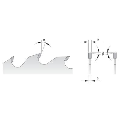 Диск пильный 300x30x4,0/2,8 18° 10° ATB Z=24+4