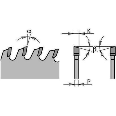Диск пильный 300x80x2,7/1,8 18° 10° ATB Z=24+4