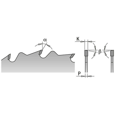 Диск пильный 350x30x3,2/2,2 15° 5° ATB Z=24
