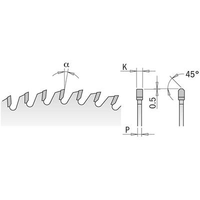 Диск пильный 350x30x3,5/2,5 15° 10° ATB Z=72