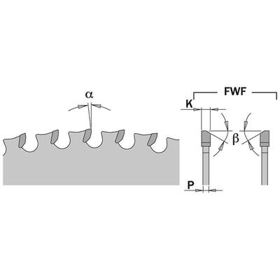 Диск пильный 355x25,4x2,2/1,8 0° 8° FWF Z=72 1600 об/мин