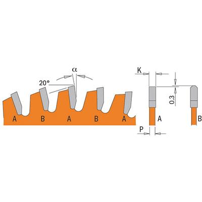 Диск пильный по алюминию 305x2.8/2.0x30 Z96 TCG NEG -6°