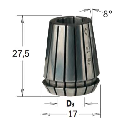 ER16 D=8 цанга высокоточная