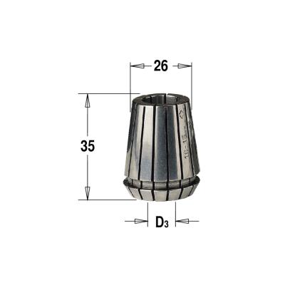ER25 D=9 цанга высокоточная