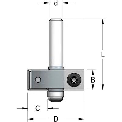 Фреза четверть 22 мм со сменными ножами