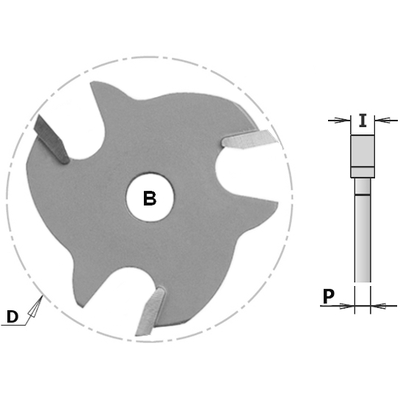 Фреза CMT-PRO пазовая (диск) Z3 F=8 D=47,6x4