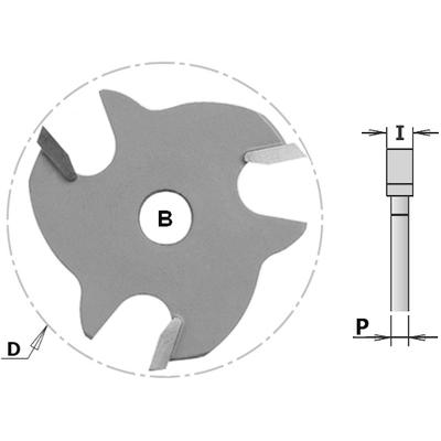 Фреза CMT-PRO пазовая (диск) Z3 F=8 D=47,6x6