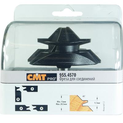 Фреза CMT-PRO сращивание 15-28,5мм (Угол 90/180гр.) S=12 D=70x31,7