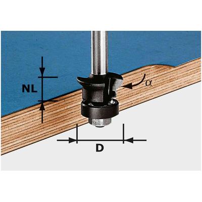 Фреза для снятия фаски/пригонки HW S8 D24/0° +45°