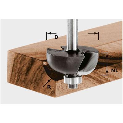 Фреза для выборки желобка HW S8 D25,5/R6,35 KL